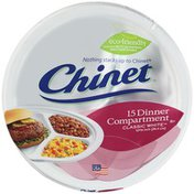 Chinet Compartment Plates, Classic White