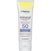 TopCare Sunscreen Lotion, Mineral, Broad Spectrum SPF 50
