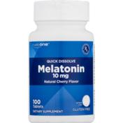 CareOne Quick Dissolve Melatonin 10 mg Cherry Flavor
