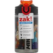 Zak Water Bottle, Leak-Proof, Minecraft, 15.5 Ounce