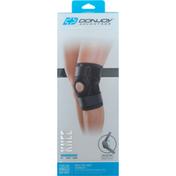 Donjoy Knee Wrap, Stabilizing Hinged, Maximum, Black, L/XL