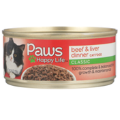 Paws Happy Life Beef & Liver Dinner Classic Cat Food