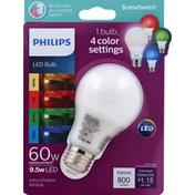 Philips Light Bulbs, LED, Soft White, 9.5 Watts