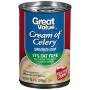 Great Value 97% Fat Free Cream of Celery Condensed Soup