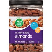 Food Club Almonds, Salted, Roasted