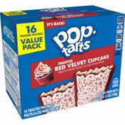 Kellogg's Pop-Tarts Toaster Pastries, Breakfast Foods, Baked in the USA, Red Velvet Cupcake