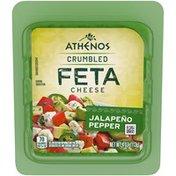 Athenos Jalapeno Pepper Crumbled Feta Cheese