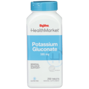 Hy-Vee Healthmarket, Potassium Gluconate 595 Mg Mineral Balance Support Mineral Supplement Tablets