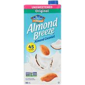 Almond Breeze Unsweetened Original Almond Coconut Fortified Almond Beverage