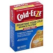 Cold Eeze Zinc Gluconate Glycine, Sugar Free, Lozenges, Honey Lemon