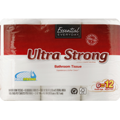 Essential Everyday Bathroom Tissue, Ultra Strong, Double Roll, 2-Ply