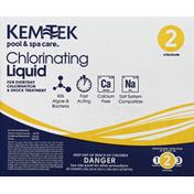 Kem-Tek Chlorinating Liquid, 2 Chlorinate