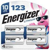Energizer 123 Lithium Batteries, 3V Batteries