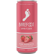 Barefoot Pink Moscato Wine 1 Single Serve Can