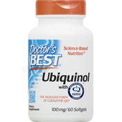 Doctor's Best Ubiquinol, with Kaneka, 100 mg, Softgels