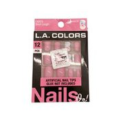 L.A. Colors Short Length Artificial Nails In Throwback