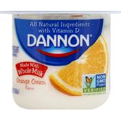 Dannon Yogurt, Orange Cream Flavor