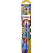 Firefly Toothbrush, Ready Go Brush, Light Up Fun, Transformers, Soft
