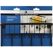 iDesign(TM) Mail & Key Rack, Wall Mount