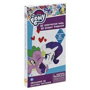 My Little Pony Valentines, with Glitter Tattoos