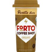 Forto Coffee Shot, Organic, Vanilla Latte