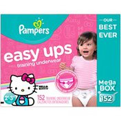 Pampers Easy Ups Hello Kitty Size 2T–3T Training Underwear