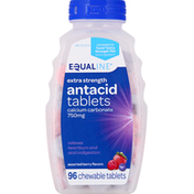 Equaline Antacid, Extra Strength, 750 mg, Assorted Berry Flavors, Chewable Tablets