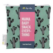 Itzy Ritzy Mama Baby Snack Everything Food Safe Pouch Cactus Crew