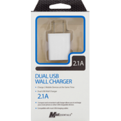 Mobilcharge Wall Charger, Dual USB