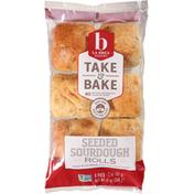 La Brea Bakery Rolls, Sourdough, Seeded, 6 Pack