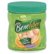 Benefiber Fiber Supplement,  Chewable Tablets, Orange Creme