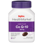 Hy-Vee Healthmarket, Co Q-10 100 Mg Heart Health Support Dietary Supplement Rapid Release Liquid Filled Softgels