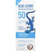 Blue Lizard Mineral Sunscreen, Sensitive, Broad Spectrum SPF 50+