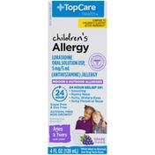 TopCare Children'S Indoor & Outdoor Allergy Non-Drowsy Loratadine 5 Mg/5 Ml (Antihistamine) Oral Solution, Grape