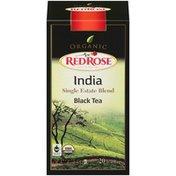 Red Rose Organic India Single Estate Blend Black Tea 1.41 Oz Tea Bags