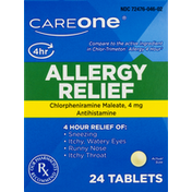 CareOne Allergy Relief, 4 mg, Tablets