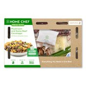 Home Chef Meal Kit Mushroom And Swiss Beef Cavatappi With Bacon And Green Onions