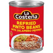 La Costeña Refried Pinto Beans with Jalapeno Peppers