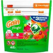 Gain Tropical Sunrise Gain flings! Liquid Laundry Detergent Pacs, Tropical Sunrise