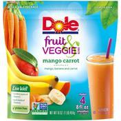 Dole Fruit & Veggie Blends Mango Carrot Smoothie Mix