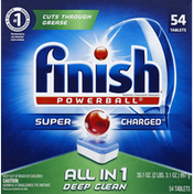 Finish Automatic Dishwasher Detergent, Super Charged, Deep Clean, Tablets