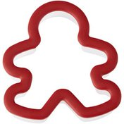 Wilton Comfort Grip Large Plastic Gingerbread Boy Cookie Cutter, 3.45 x 3.64-Inch