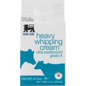 Food Lion Whipping Cream, Heavy, Carton