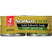 StarKist Solid Yellowfin Tuna, in Extra Virgin Olive Oil, 4 Pack