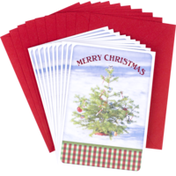 Hallmark Christmas Cards Pack, Christmas Tree in Snow (10 Cards with Envelopes)