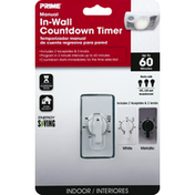 Prima Timer, Countdown, In-Wall, Manual, Indoor