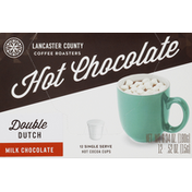 Lancaster County Coffee Hot Chocolate, Milk Chocolate, Double Dutch, Cups