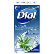 Dial Antibacterial Deodorant Bar Soap, Icy Aloe