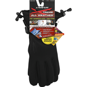 Seirus Gloves, All Weather, Gauntlet, Black, Large, Mens