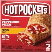 Hot Pockets Premium Pepperoni Pizza Crispy Crust Frozen Snacks